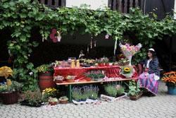 9 Blumenstand+Blumenfrau/Flower booth+Flower woman