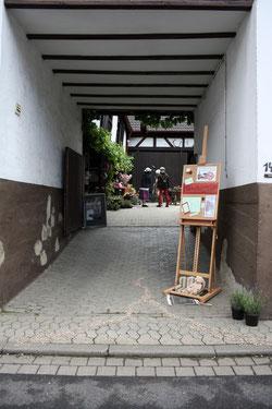5 Dekorierte Auffahrt/Decorated driveway