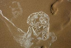 49 Schaum und Fußabdrücke/Foam and footprints