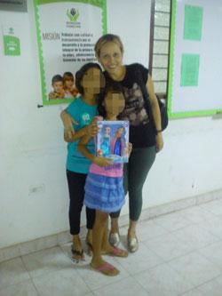 Marcela mit den Schwestern von Yordi