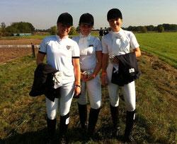 Die strahlenden qualifizierten: Lena, Maike & Hanna