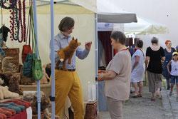 Barlebens Handpuppen werden auch vorgeführt - ein Riesenspaß mit den kuscheligen Tieren!
