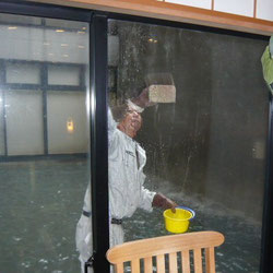 ガラスのうろこ汚れ除去テスト