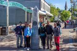 Start beim berühmten Obelisken des West Highland Ways