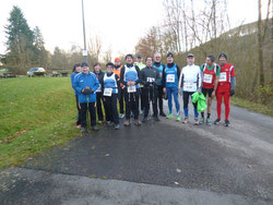 Die Walkinggruppe vor dem Start.
