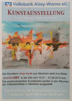 Plakat zur Kunstausstellung Volksbank Albisheim