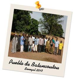 Familias del poblado de Bantancountou