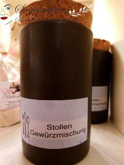 Gewürz Keramik Gewürzmischung Stollen Weihnachtsgebäck Spekulatius Feinkost