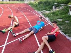 gemeinsames Training mit dem team2012.at