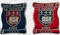 2 plaques titres CACS et RCAS de coach canin 16 educateur canin charente
