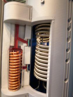 Wärme mit Photovoltaik  Bildbeschreibung Boiler Wärmespeichersystem