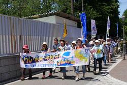 浦和駅に向かう「13区の会」の隊列