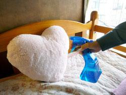 寝具や枕の悪臭の消臭、除菌