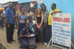 Yidika rencontre Delphine Ménage de l'Institut français du Congo