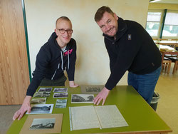 (v.l.n.r.: Michael Cordes (1.Vorsitzender) und Andre Nannen (Photo von Oven)