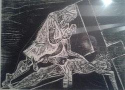 XI Estación, Jesús es clavado en la Cruz