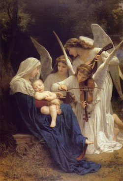 Canción de ángeles, William Adolphe  Bouguereau