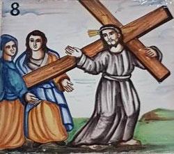 VIII Estación, Jesús habla con las mujeres de Jerusalén
