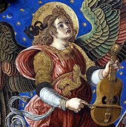 Ángeles músicos, catedral de Valencia