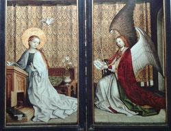 Anunciación, Stephan Lochner (1445), catedral de Colonia