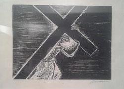 II Estación, Jesús carga con la Cruz, camino del Calvario