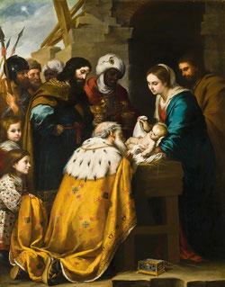 La adoración de los Reyes Magos, Bartolomé Esteban Murillo