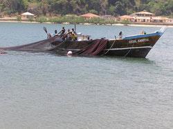 Fischerboot in Pangani, Tansania