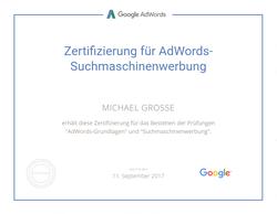Google Zertifizierung für AdWords Suchmaschinenwerbung