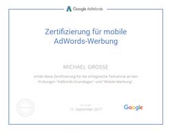 Google Zertifizierung für mobile AdWords Werbung
