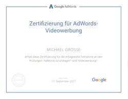 Google Zertifizierung für AdWords Videowerbung