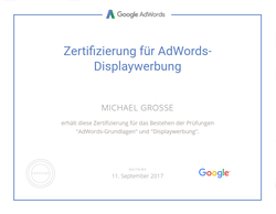 Google Zertifizierung für AdWords Displaywerbung