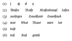 Abb. 1: Textbeispiele. Gesetzt aus der Zentenar-Fraktur.