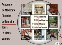 Le site de l'école de médecine chinoise de Tours, dirigée par Jérôme Chaput.