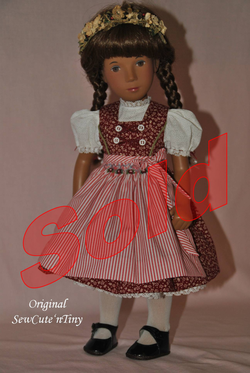 90.00 USD, Dirndl Dress, Blouse, Smocked Apron and Petticoat