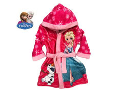 Disney Frozen Eiskönigin rosa Bademantel Kuschelbademantel Kinderbademantel