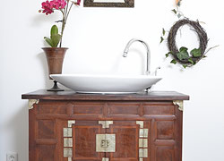 Waschtisch vintage  Waschtisch Vintage - Land & Liebe Badmöbel Landhaus