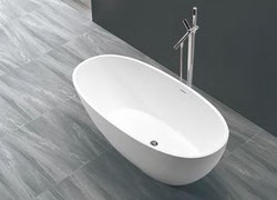 guenstige freistehende badewannen aus mineralguss badefieber. Black Bedroom Furniture Sets. Home Design Ideas