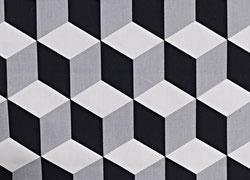 Stoff Dreieick Dreiecke Gelb Grau Weiss Grid
