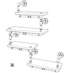 DIY Bauplan Wandregal aus Rohren