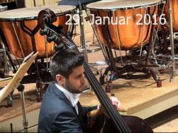29. Januar 2016 - Die Einsamkeit des Basisten im Orchester