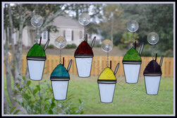 NOLA Art Glass Snoballs ©Acadian Glass Art LLC 2016. All Rights Reserved