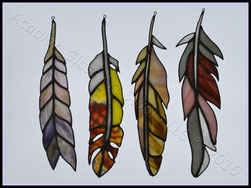 Art Glass Feathers
