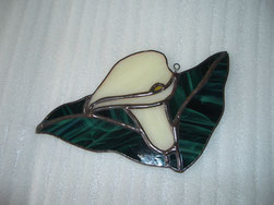 Calla Lily Stained Glass Suncatcher