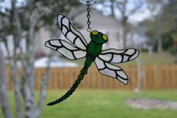Dragonfly Iridescent Art Glass
