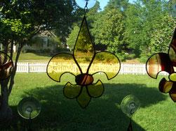 Fleur de Lis Suncatcher