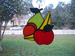 Stained Glass Fruit Suncatcher Kitchen