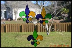 Mardi Gras Fleur de Lis Suncatchers
