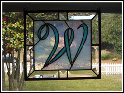 Initial 'W' Stained Glass Panel