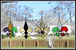 Fleur de Lis Glass Ornaments