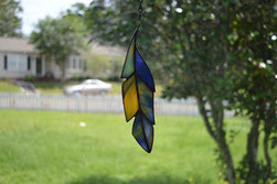 Art Glass Feather